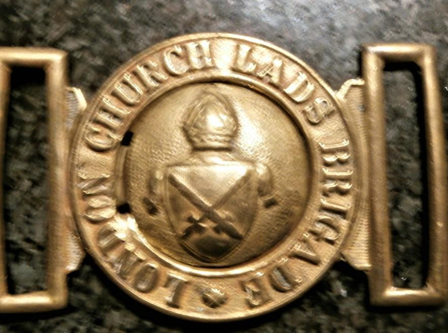 HMS P.12 Example of a complete Lads Brigade Church buckle